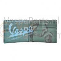 Vespa vintage Portemonnee met opdruk (groen)