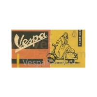 Vespa Canvas: oranje 100x50