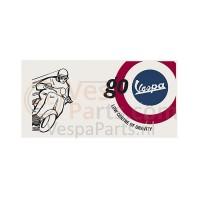 Vespa Canvas: GO Vespa 100x50