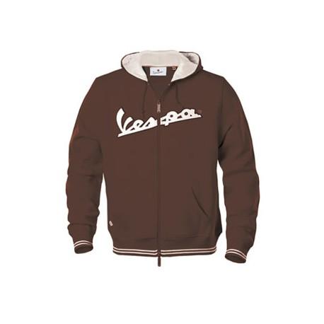 Vest capuchon Vespa man bruin