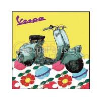 Vespa Canvas: bloemen 50x50 of 80x80