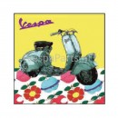Vespa Canvas: bloemen 50x50 of 80x80
