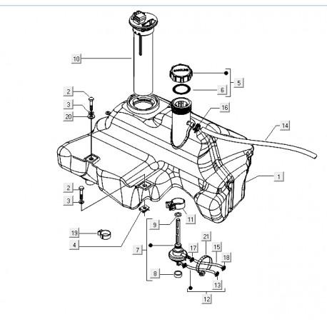 07: Tankdopring 42x26x3 Vespa ET2/ET4/LX/LXV/S