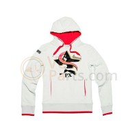 Vespa Sweater Limited dames licht grijs/rood