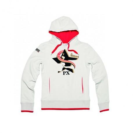 Vespa Sweater Limited dames licht grijs/rood