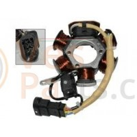 02. Complete ontsteking (stator) 2 takt Vespa scooter LX/LXV/S/Primavera 50 2T/Sprint 50 2T