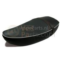 Buddyseat DUO Leder zadel Vespa LX/LXV/S zwart/oranje