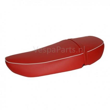 Buddyseat DUO Leder zadel Vespa LX/LXV/S rood