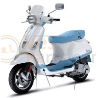Vespa scooter Stickerset College blauw