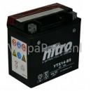 Nitro YTX14-BS onderhoudsvrije Accu 12V 12Ah Vespa GT/GTS/GTV300