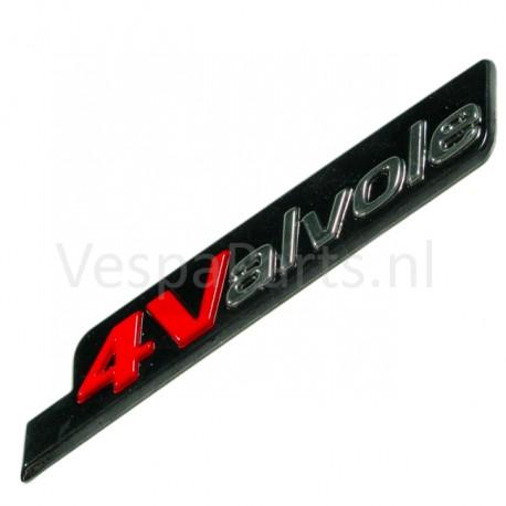 07: Embleem 4 Valvole Vespa S rood/zwart