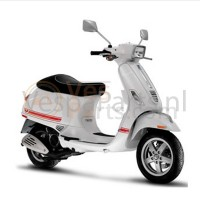 Vespa scooter Stickerset sport Rood