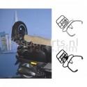 Achterdrager opklapbaar met Reservewiel Vespa LX/LXV/S chroom