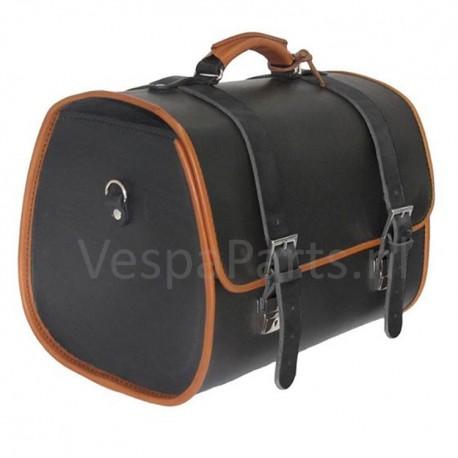 Bagagetas Vespa Vintage zwart (leder)