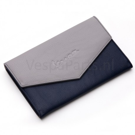 Documentenmap en Portefeuille Vespa blauw