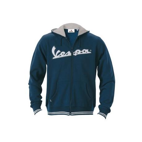 Vest capuchon Vespa man blauw