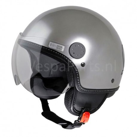 """Vespa Helm """"Visor"""" zilver Metal"""