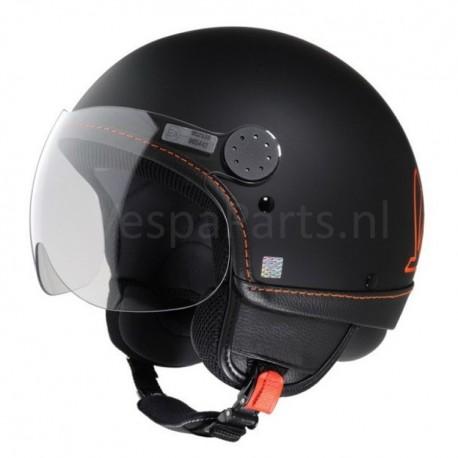 "Vespa Helm ""Visor"" zwart 85/B met oranje"