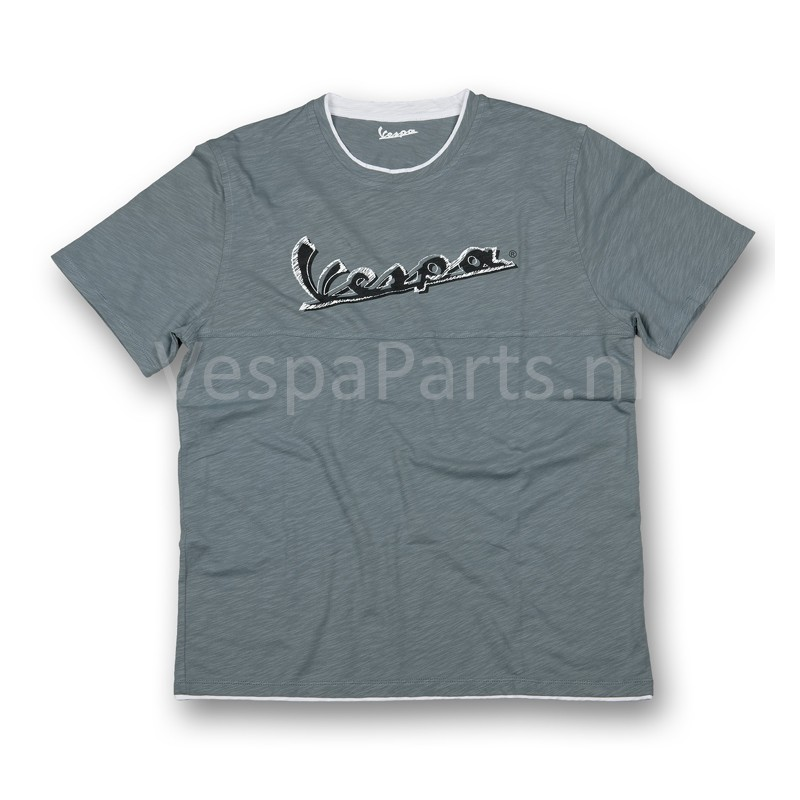 vespa t shirt original heren grijs ves vespa accessoires gadgets onderdelen. Black Bedroom Furniture Sets. Home Design Ideas