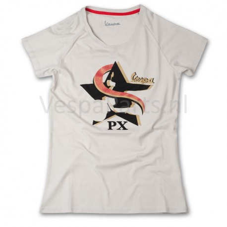 Vespa T-Shirt limited Star (licht grijs)