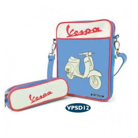 Vespa Tas voor iPad (blauw)
