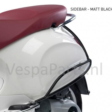 Valbeugel achter origineel Vespa Primavera/Sprint mat zwart
