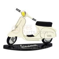 Miniaturen Vespa 2D Primavera 125 (wit)