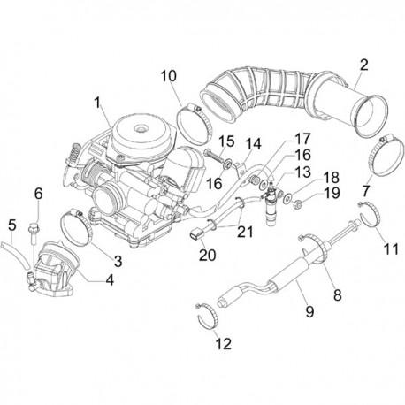 01. Carburateur Vespa Primavera/Sprint 4t-4