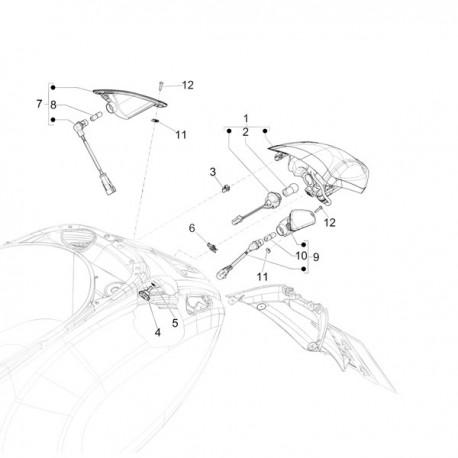 07. Knipperlicht rechtsachter Vespa Primavera/Sprint