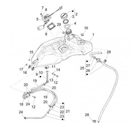 07. Bevestigingsmoer Benzinetankzender Vespa Primavera/Sprint