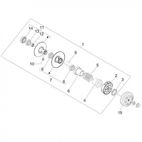 09. Pakking koppeling poelie/O-ring 40x2 Vespa Primavera