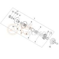 12. Naaldlager koppeling achter Vespa Primavera/Sprint/LX/LXV/S/