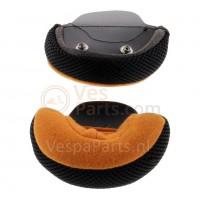 Wangstuk Vespa Visor Helm zwart