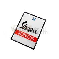 """Plaat nieuw Vespa """"Servizio"""""""