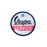"Plaat rond Vespa ""Servizio"""