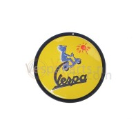 "Plaat rond Vespa ""The Sun"""