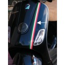 Sticker Vespa scooter tricolore band