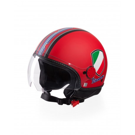 Vespa Helm V-Stripes rood