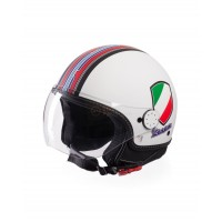 Vespa Helm V-Stripes wit