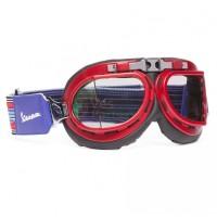 Vespa Bril Helmvizier V-Stripes rood