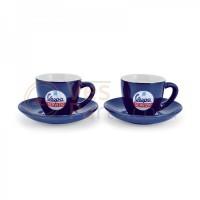 Kopjes Vespa Servizio Espresso Blauw (2 stuks)