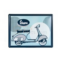 Vespa decoratie, Vespa box collection, tin plate blauwkleurig
