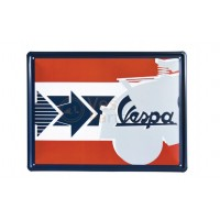 Vespa decoratie, Vespa box collection, tin plate bruin/oranjekleurig
