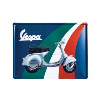 Vespa decoratie, Vespa box collection, tin plate gekleurd