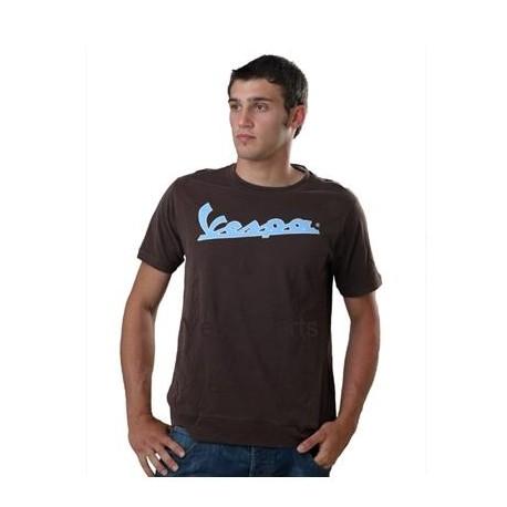 Vespa T-Shirt heren bruin