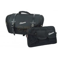 Set: bagagetas Classic 35 liter en klein praktisch tasje midden scooter, zwart