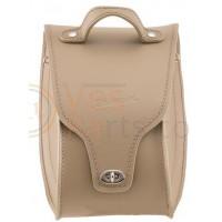 Leren 'tunnel' schoudertas voor Vespa GTS 300ccm 14, beige, Origineel Vespa