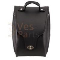 Leren 'tunnel' schoudertas voor Vespa GTS/GTS Super/GTV /GT 60/GT/GT L 125-300ccm, zwart, Origineel Vespa