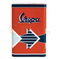 Vespa koekblik/opbergblik, Vespa box collection, bruin/oranjekleurig