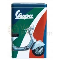 Vespa koekblik/opbergblik, Vespa box collection, kleurig